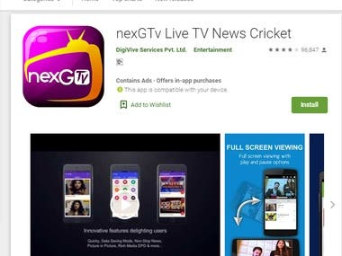 nexGTv Live TV News Cricket