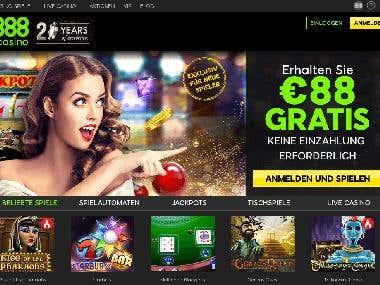 Angular & CakePHP Casino website