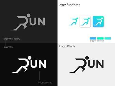 R Run letter logo design