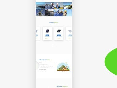Solar Energy website design mockup