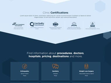 Hospital Listing web portal