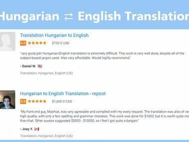Hungarian ⇄ English Translation