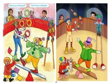 """circus"" illustration"
