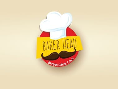 Logo Design for Baker Head, a bakery chain.