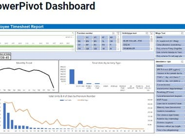 Powerpivot Dashboard