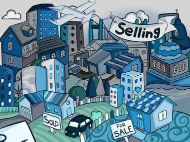 """""""Real Estate"""" illustration"""