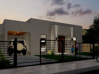 architectural renders of a house