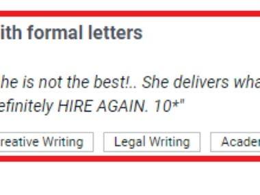 Formal Letter Wring