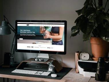 E-commerce Website : Skinnymetea