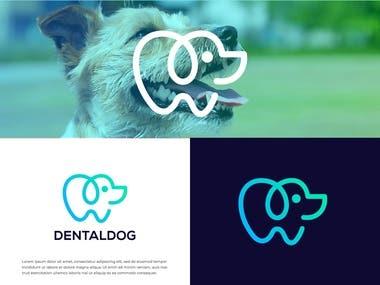Dental dog logo design