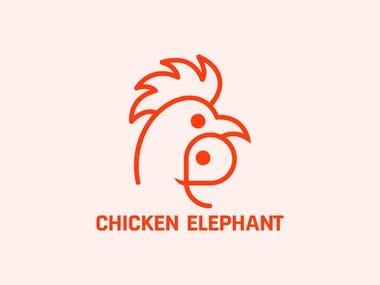 CHICKEN ELEPHANT modern minimalist creative business logo