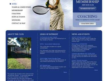 Tennis Club Website