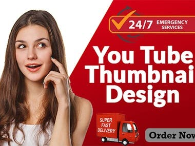 YOUTUBE THUMBNAIL BANNER DESIGN IN 3 HOURS