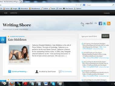 writingshore.com - article submission wordpress site