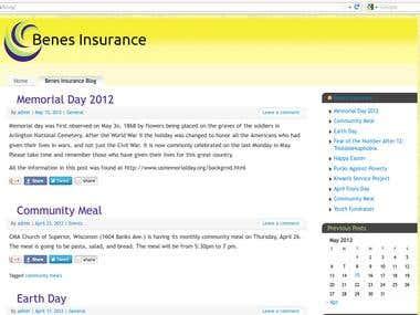 Benes Insurance Website
