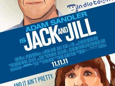 Jack y Jill Vector Art completo.