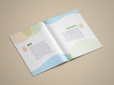 English & Arabic Healthy Foods Brochure Design