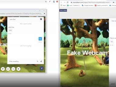 WebRTC, Video conference, Live chat