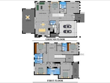 Floor Plans GF&FF illustrator