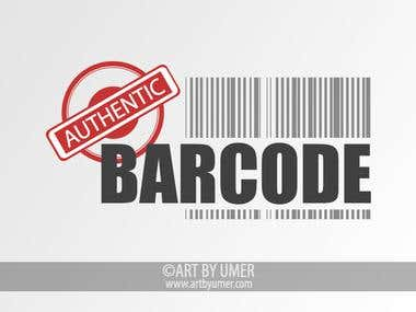 Authentic Barcode Logo Design