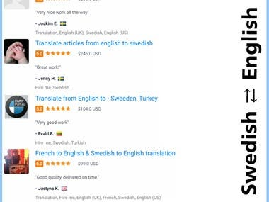 Swedish ⇄ English Translation