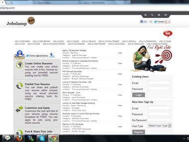 jobslamp.com - Job oriented resume sharing system.
