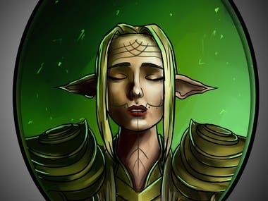 Dragon Age - Lavellan portrait