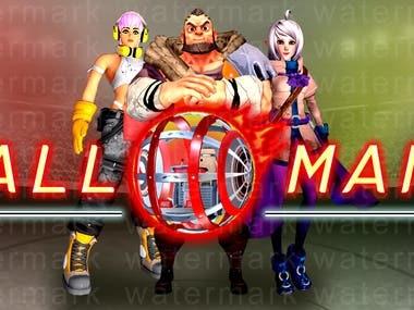 3d steam logo design for game