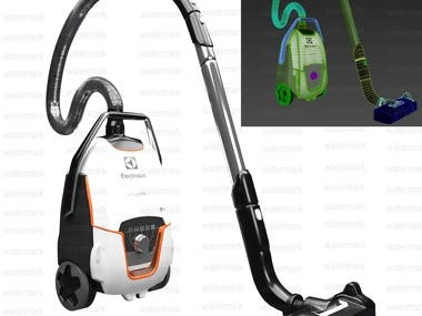 vacuum cleaner 3d modelling and rendering