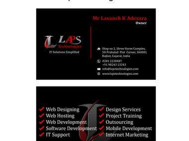 Business card for Laps Technologies