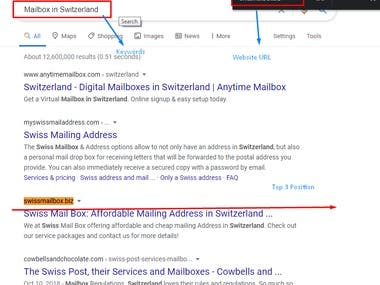 Top 3 Results of our client main keyword