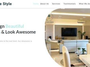 Website for home designs