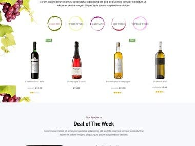 Wine shopMockup Design