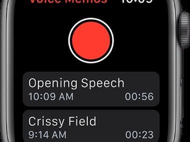 Apple Watch app - record memo in Opus format