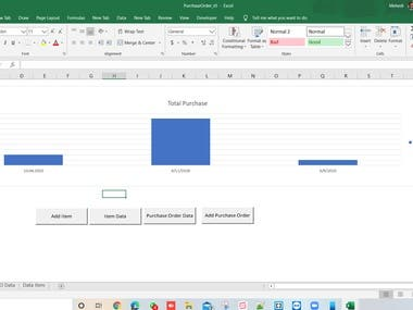 Excel table for sales