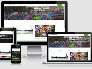 Sport Races List Website