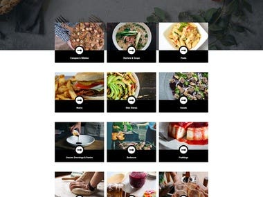 Responsive Food Home page Design