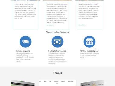 Develop storecreator.io on Codeigniter