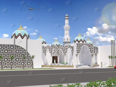 3d Modelling and rendering for mosque