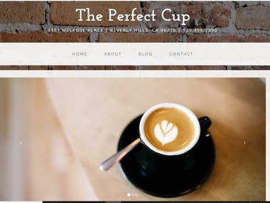 Coffe cup website