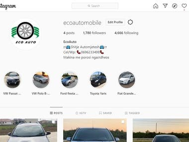 Instagram Business Page Creation and Management.