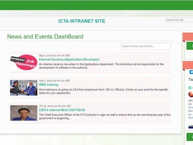 SharePoint Intranet for Government Agency