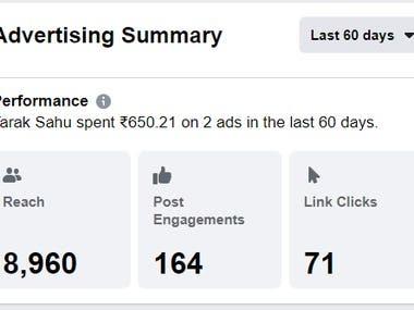 Facebook Advertise result