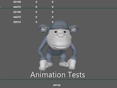 Chimp Animation Test