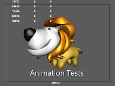 Lion Animation Test