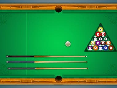 Pool game UI desing