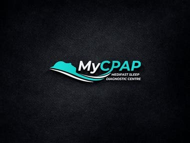 "Logo for a sleep device eCommerce company ""MyCPAP.com.hk"""