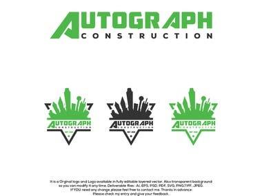 """Logo Design for """"Autograph Construction"""""""