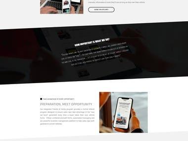 Unique web page Design