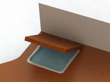 General Layout and 3D design for a hot tube